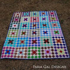 Sew Fresh Quilts: Granny Square Quilt Block Tutorial - Part 1