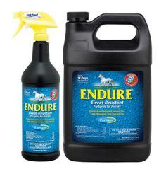 Bonus Size 25% More Free Farnam Endure Sweat-Resistant Fly Spray for Horses 1 quart 8 fl oz