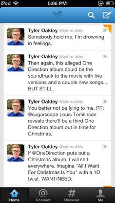 Tyler Oakley >> LIFE. THAT LAST TWEET THO HOLY POO
