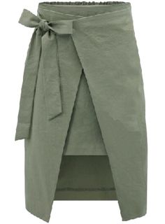 Bow Slim Split Army Green Skirt 16.67