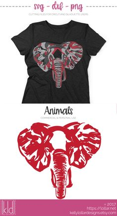 Abstract Elephant svg file - Personal and Commercial Licenses Available by Kelly Lollar Designs
