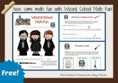 Wizard School Math Fun {Free Printable}