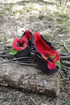 Check out this item in my Etsy shop https://www.etsy.com/listing/474183889/red-poppies-felted-slippers-wool-shoes