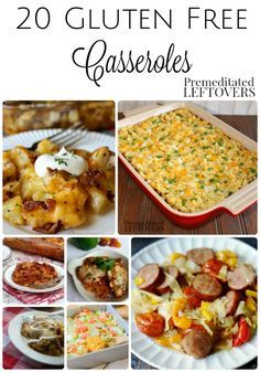 20 Gluten-Free Casserole Recipes 20 Gluten-Free Casserole Recipes- These gluten-free casseroles will make dinner time a lot easier. They are perfect for preparing ahead and freezing. Gluten Free Recipes For Dinner, Foods With Gluten, Gluten Free Cooking, Dairy Free Recipes, Dog Recipes, Gluten Free Lunch Ideas, Beef Recipes, Potato Recipes, Gluten Free Meal Plan
