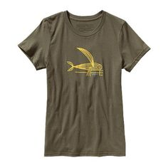 W's Deconstructed Flying Fish Cotton T-Shirt (38625)
