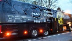 """""""'Islamist' suspect is arrested over Borussia Dortmund coach bombing after police find THREE letters claiming attack was carried out in the name of Islam,"""" by Chris Pleasance, Julian Robinson, Alla…"""