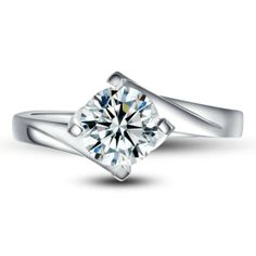 Price from 3.979$ to 4.316$ Solitaire 0.75 carat White Gold Engagement Ring. The clarity of the diamond is SI and the color is H, in a very good cut The total gold weight of the ring starts approx. from 4g.  The width is 3mm