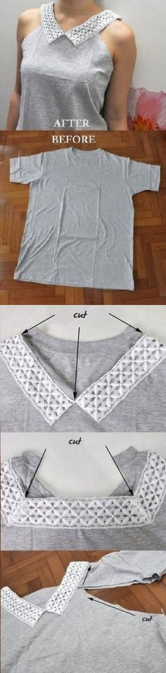 LOVE this!! Definitely need to find time to try this! (Upcycled Plain Tee – DIY)