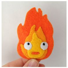 Calcifer Howl's Moving Castle Handmade Felt Patch ($10) ❤ liked on Polyvore featuring accessories