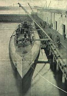 Deutschland was a blockade-breaking German merchant submarine used during World War I. It was developed with private funds and operated by the North German Lloyd Line. She was one of the first of seven U-151 class U-boats built and one of only two used as unarmed cargo submarines.  After making two voyages as an unarmed merchantman, she was taken over by the German Imperial Navy on 19 February 1917 and converted into the U-155, armed with two torpedo tubes and a deck gun.