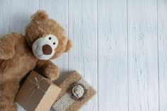 Toy Bear, Boxes With Gifts On A Light Wooden Background. The Design Of The Birthday Greeting Card. Frame For The Text Of The Stock Photo - Image of background, celebration: 152774006 Simple Background Design, Wooden Background, Birthday Greeting Cards, Birthday Greetings, Bear Toy, Teddy Bear, Simple Backgrounds, Booth Design, Congratulations