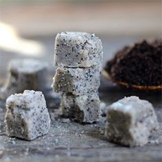 Sugar scrub cubes are easy to make and to use.