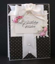 Crooked Card Creations -love black and white