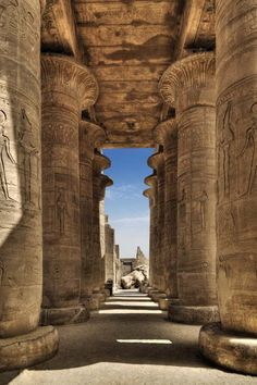 Ramesseum I in Luxor - Egypt                                                                                                                                                      More