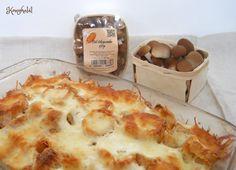 Rakott gomba - egyszerű és gyors recept | Konyhalál Cauliflower, Pizza, Cheese, Vegetables, Recipes, Food, Cooking, Cauliflowers, Vegetable Recipes