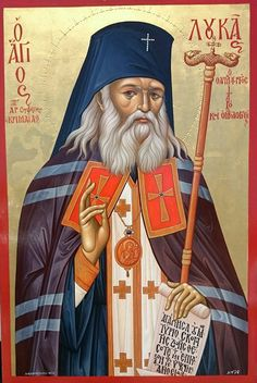 Sfântul Luca al Crimeei Byzantine Icons, Byzantine Art, Religious Icons, Religious Art, Charles Spurgeon Quotes, Greek Icons, Orthodox Christianity, Orthodox Icons, Saints