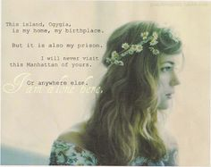 percy jackson quote. Calypso talking about her prison. possible one of saddest parts of the series :(