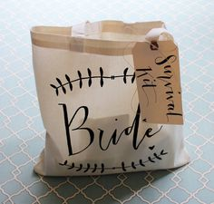 Wedding Day Survival Kit – DIY Bridal Shower Gift 'Something New' for the Bride Tote Gift Bag - Brautparty Ideen Bridal Shower Gifts For Bride, Bride Gifts, Bridal Showers, Diy Wedding Day, Free Wedding, Wedding Ideas, Wedding Inspiration, Wedding Stuff, Wedding Venues