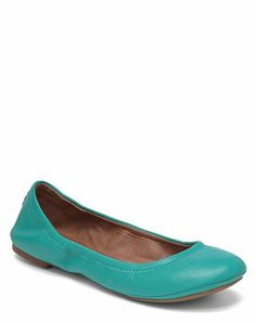 Emmie Flats - Lucky Brand. Well, the teal deal is that I love them. :)