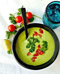 Colombian Cream of Avocado Soup - lightened up and vegan