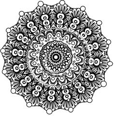 Digital Download Coloring Page Hand Drawn Zentangle Inspired Mandala Hippie Abstract Zendoodle. $2.20, via Etsy.