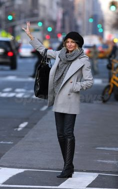 Cameron Diaz-- winter in NYC