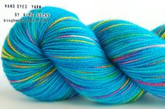 Pixel Yarn - Forget Me Not - Limited Edition Sock Yarn - 2 Ply SW BFL on Etsy, £14.00