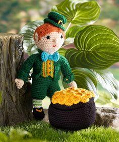 Kitrick the Leprechaun Crochet Pattern.  FREE PDF 5/14.