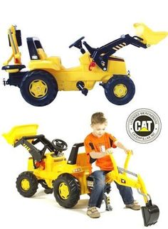 A bright yellow ride on digger truck form Cat. A great toy for boys who like the idea of construction work.