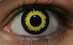 yellow n black eye contact Cool Contacts, Cat Eye Contacts, Halloween Contacts, Novelty Contact Lenses, Black Contact Lenses, Prescription Colored Contacts, Lenses Eye, Eye Art, Pretty Eyes