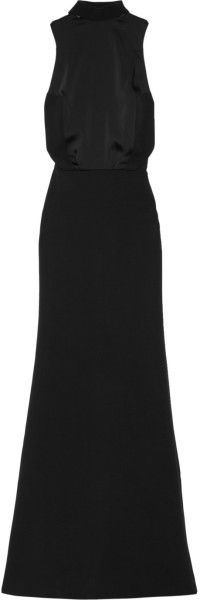 Victoria BEckham Crepe and Matte satin Gown - Lyst