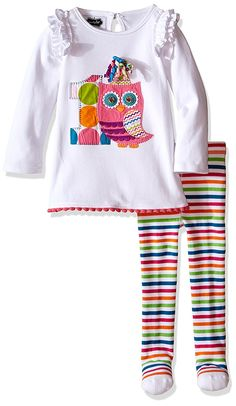 6b7b35752c92b Mud Pie Baby Girls' Owl Tunic and Tights Set *** Find out more details by  clicking the image : Baby clothes