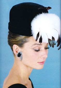Audrey - the feather in her cap