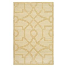 Wool rug with an oversized lattice motif. Handcrafted in India.  Product: RugConstruction Material: Wool JOSS & MAIN