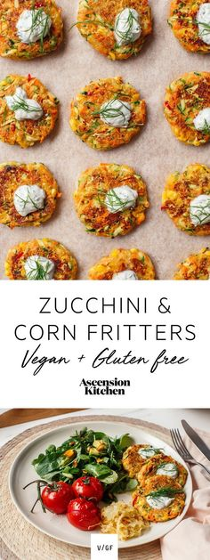 Easy Gluten Free and Vegan Zucchini and Corn Fritters