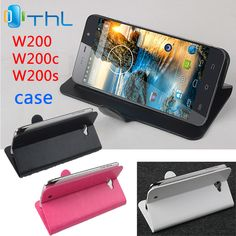 free shipping THL W200 W200C W200S case cover, Good Quality Leather Case + hard Back cover For THL W200 W200 C W200 S cellphone