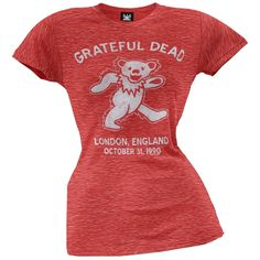 Grateful Dead - London 90 Juniors T-Shirt | OldGlory.com
