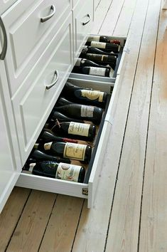 Bottle storage - under cupboard storage