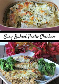 Get the recipe for this delicious Baked Parmesan Pesto Chicken & discover how you can try food from around the world at home with #TryTheWorld @TrytheWorld #Pesto #Chicken