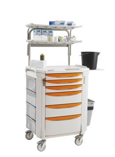 Flexline Cast Cart w/Overhead, select from (10) drawer-pull colors.