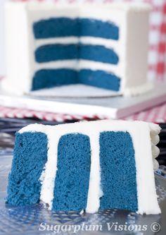 Bisous Toi Blue Velvet Cake cake Pinterest Blue velvet
