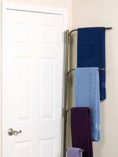 Bathroom towel bars on pinterest brass bathroom bathroom towels and kitchen sink faucets - Towel racks for small spaces concept ...