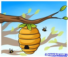 How to Draw a Beehive, Step by Step, Stuff, Pop Culture, FREE ...