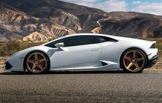 White Huracan on HRE Wheels