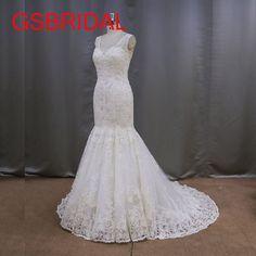 >> Click to Buy << 2017 Custom Size Romantic Lace Appliques Cap Sleeve Lace Up Back Court Train V-Neck Mermaid Wedding Dresses Vestidos De Noiva  #Affiliate