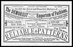 Demorest Emporium of Fashions via sheaff
