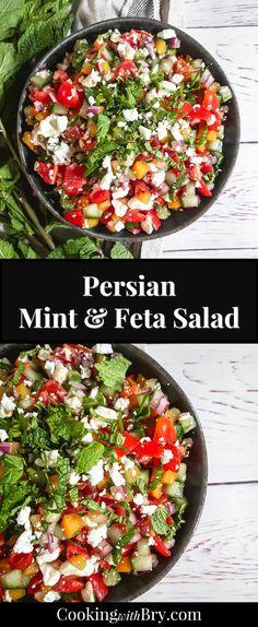 Mint Recipes, Easy Salad Recipes, Easy Salads, Beef Recipes, Chicken Recipes, Dinner Recipes, Easy Meals, Cooking Recipes, Healthy Recipes