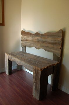 Angel Bench Recycled Wood Bench in Memory of Wooden Bench Entry way Rustic Farmhouse Benches Furniture