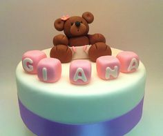 Baby Cake topper Teddy Bear Cake Topper Beautiful by ThreeTeddies, little baby bear, for $32.00 on Etsy