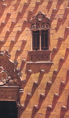 The Casa de las Conchas is a historical building in Salamanca, central Spain. It currently houses a public library.